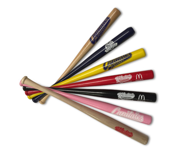 "18"" miniature baseball bats for gifts, awards, souvenirs. Made in the USA!"