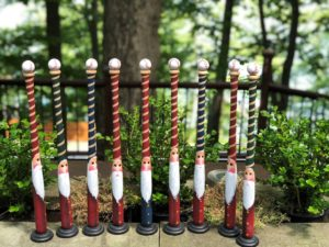 Wells 18 inch mini-bats used as Santa Clause